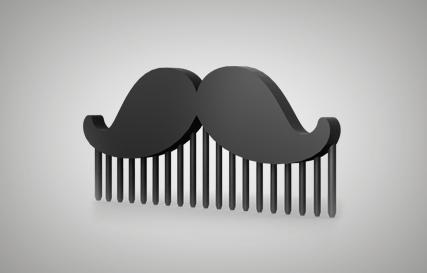 Mustache Comb Printables logo
