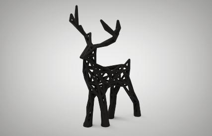Wire-frame Holiday Deer Printables logo