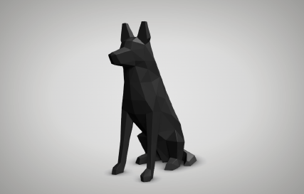 Low Poly German Shepherd Printables logo